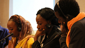 """Joannie Bewa attended the IVLP """"Young African Leaders"""" program with 19 of her colleagues from across Africa."""