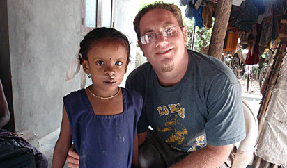 Luke Juran with Sangeeta following her surgery.