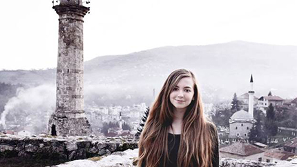 Alessandra Gest from Bellaire, TX, currently studies in Bosnia and Herzegovina.