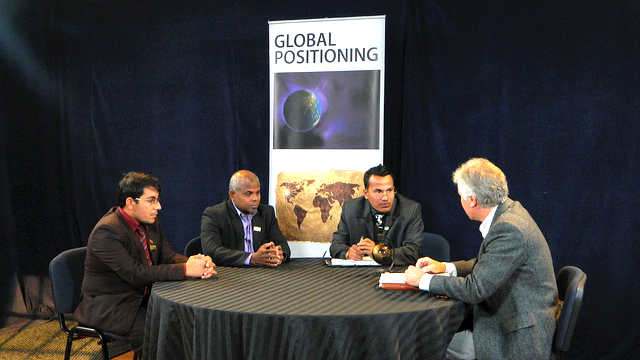 Edward R. Murrow 2011 - SCA Global Positioning:  Participants take part in an interview for the program Global Positioning in Bozeman, MT.