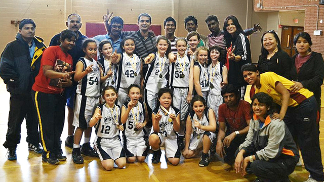 The Indian coaches helped The Classics, a girls basketball team from Washington, D.C., win their championship game.