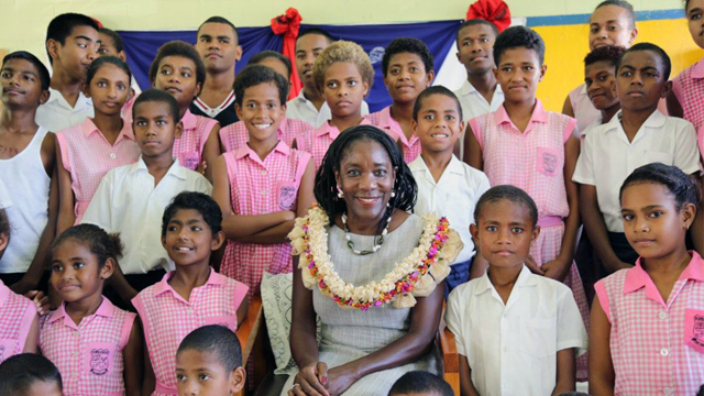 U.S. Ambassador to Fiji, Frankie Reed, visited the Gospel School of Deaf. The participants attend this school, the only deaf school in the Pacific Islands Region.