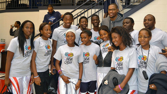 The DRC visitors met NBA Stars at the Verizon Center, among them was fellow Congolese player, Serge Ibaka.