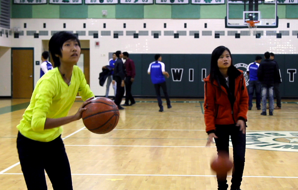 Burmese teenage girls practice their skills together at a D.C.-area high school.