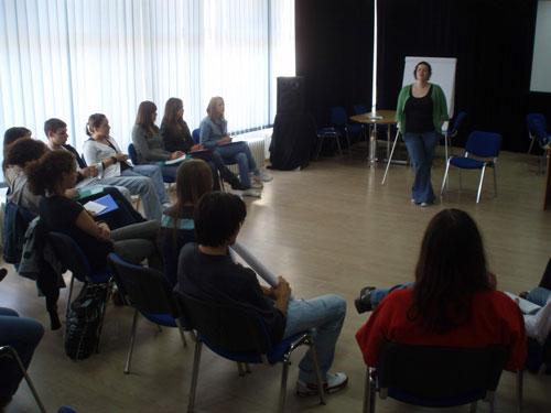Alumni attend a leadership seminar.