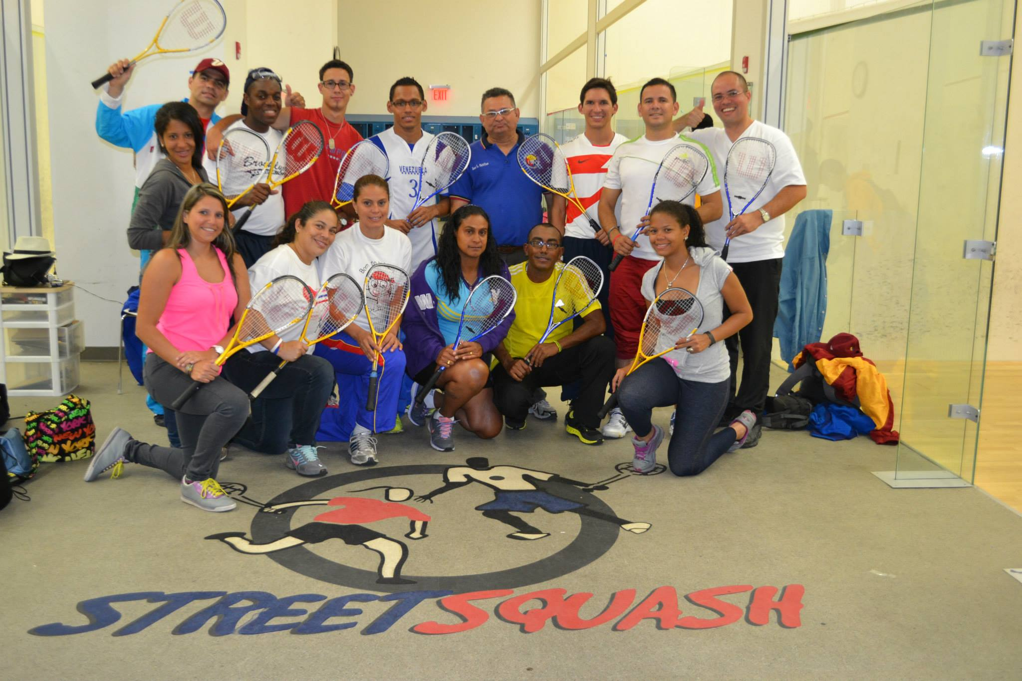 The sports visitors participated in other sports besides soccer including squash and softball