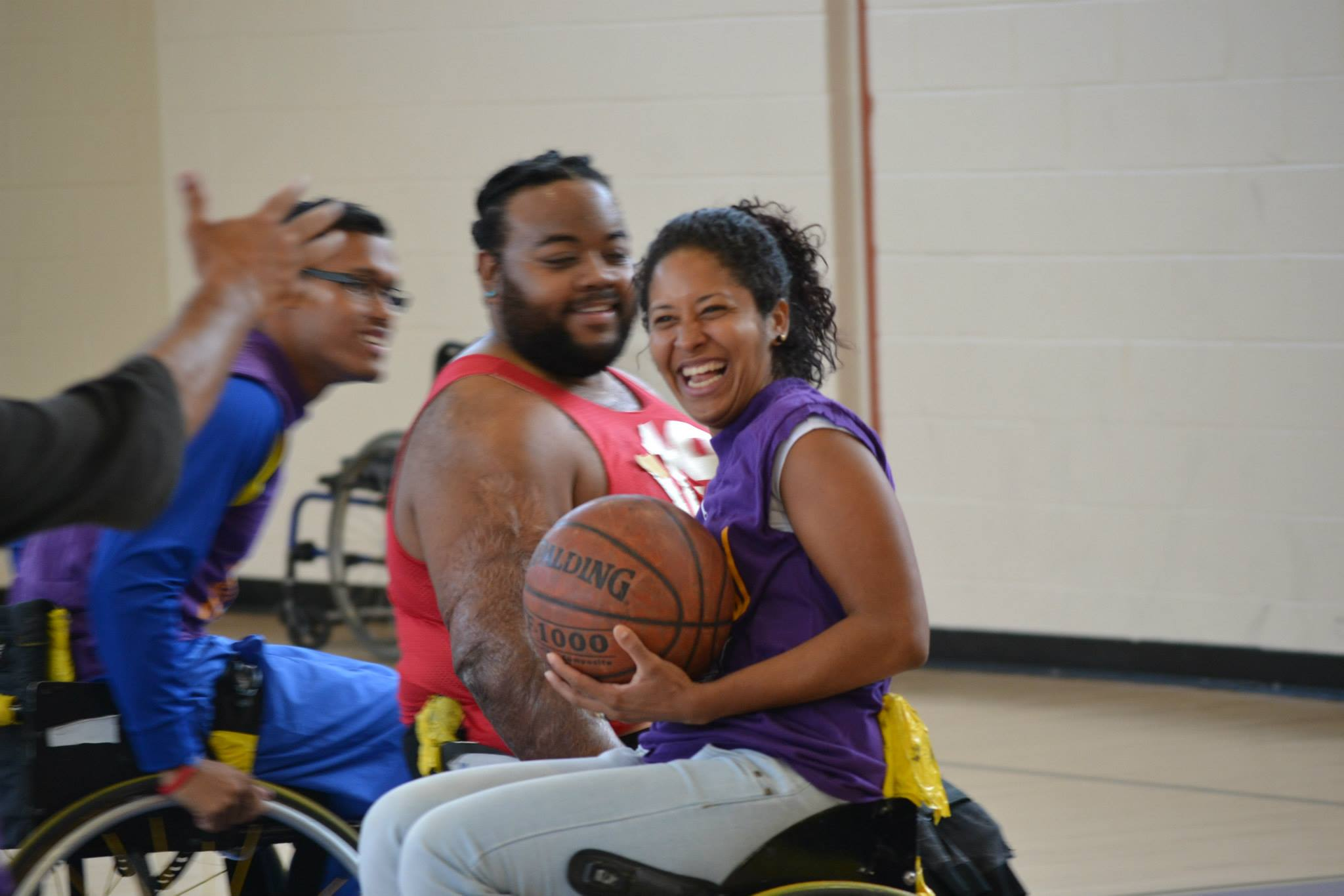 The Venezuelan Deaf Educators also tried their hand at another adaptive sport: wheelchair basketball