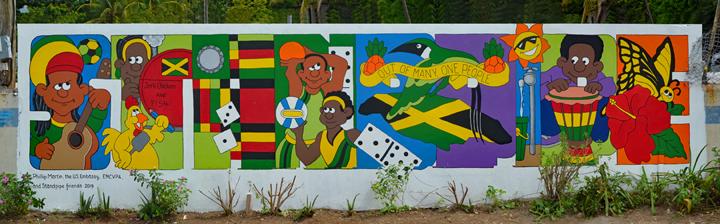 Standpipe mural in Jamaica