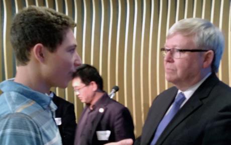 Ben facing former Australian Prime Minister
