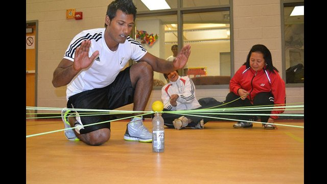 The Indian basketball coaches participated in team-building workshops in Washington, D.C.