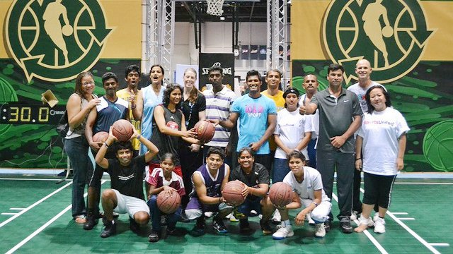 The Indian basketball coaches stayed in Orlando, Florida, where they had an NBA Jam Session.