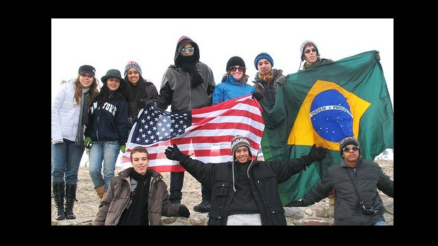 Youth Ambassadors visit Yellowstone National Park in Montana.