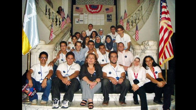 College Fair Volunteers and Competitive College Club students in Egypt.