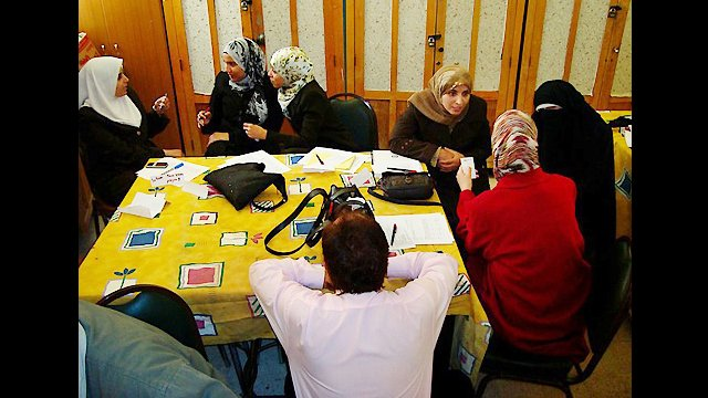 A Senior English Language Fellow works with English Access Microscholarship teachers in southern Jordan.