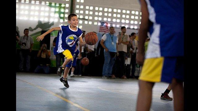 A Venezuelan boy demonstrates the determination and effort required to make progress in sports.