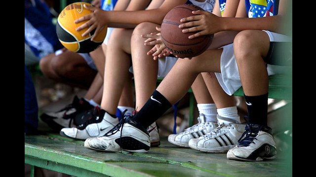 Sneakers are a must for the intensive basketball clinics.