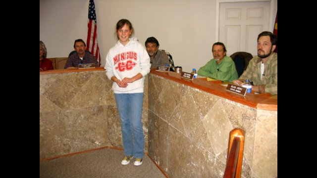 An A-SMYLE student attends her local city council meeting and gives a presentation.
