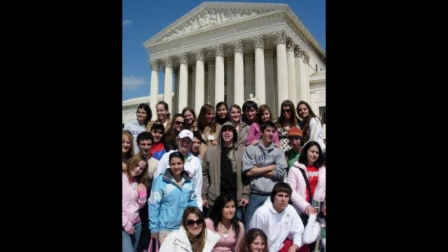 A-SMYLE students visit the U.S. Supreme Court.