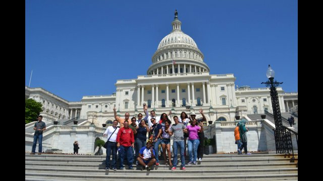 A group shot in front of the Capitol in DC