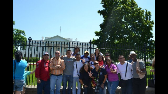 The group saw the important sites in DC including the White House
