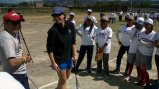 "As a member of the State Department's Council to Empower Women and Girls through Sports, Jessica Mendoza truly engaged in ""fieldwork"" by leading a softball clinic for teenage girls in Nicaragua."