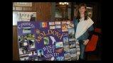 Xenia with her International Education Week presentation board.