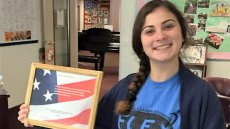 Manana, a FLEX Student from Georgia, Brought Cheer to U.S. Seniors and Veterans