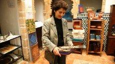 Photo of IVLP Alumna in art gallery