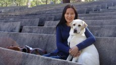 Fulbright Foreign Student Alumna Introduces First Seeing-Eye Dog to Mongolia