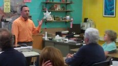 Teachers of Critical Languages Program Alumnus Ez Eldin Salem addresses a group of teachers in Wisconsin.