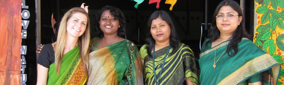 Photo of female participant and fellow teachers